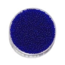 Rocailles 11/0 mix transp. blauw 25gr.