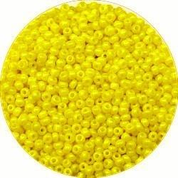 Rocailles 12/0 opaque geel 25gram