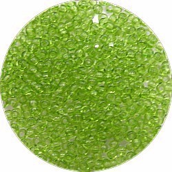 Rocailles 12/0 transparant groen 25 gram