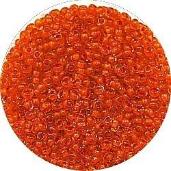 Rocailles 12/0 tr. oranje/oranje kern 25gram