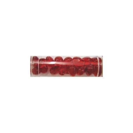 Guterman facetdruppel 10mm rood ca. 20st