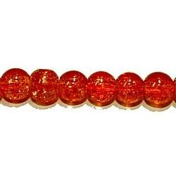 Craquelle 6mm oranje/transp str.75cm ca.140 st.