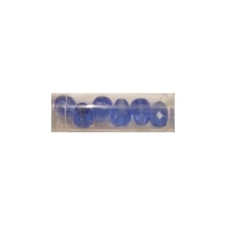 Guterman facetdruppel 13mm saffierblauw 6st