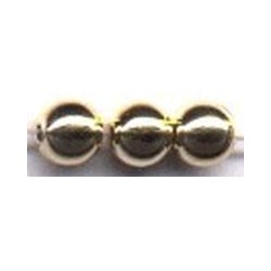 Parels 5mm rond, goudkleurig, 100 st