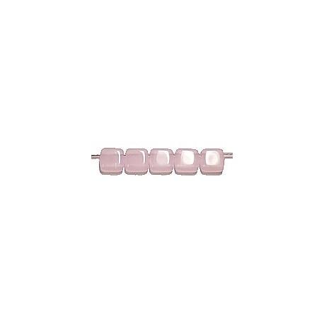 TILA kralen 6x6mm opaal roze 25st.