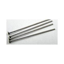 Nietstiften 25mm zilverkleurig 100st