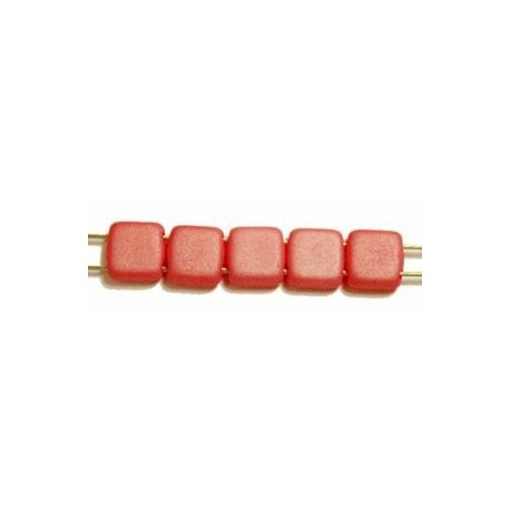 TILA kralen 6x6mm mat rose 25st.