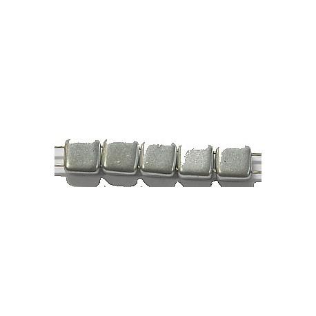 TILA kralen 6x6mm full silver 25st.