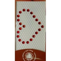 Swarovski tattoo 3mm kristal 3x4cm rood