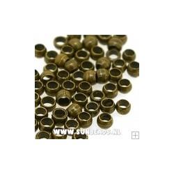 knijpkralen 2mm oud goudkl. 100st.
