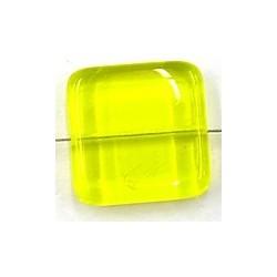 glaskraal 21x21mm tr.geel 2 stuks