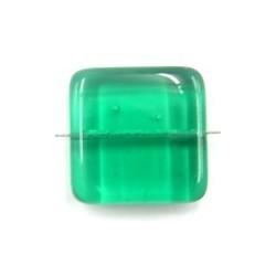 glaskraal 21x21mm plat groen 2 stuks
