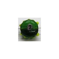 glaskraall 14x16mm groen m.roos 5 stuks