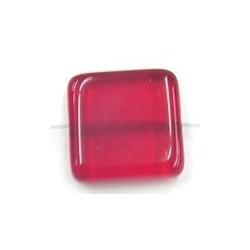 glaskraal 21x21mm tr.rood 2stuks