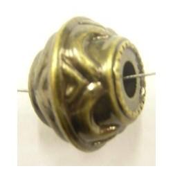 Metallookkraal 15mm oudgoudkl. per stuk