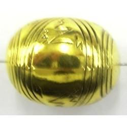 Metallookkraal 20x25mm goudkl. p.st.