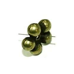 Metallook kraal met ballentjes 17mm oudgoudkl. 5st