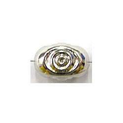 Metallookkraal 16x10mm m.ringen 5 stuks