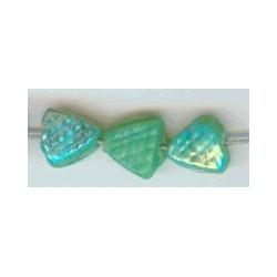 Glaskraal driehoek bewerkt 6mm groen ca. 100 st