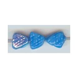 Glaskraal driehoek bewerkt 6mm blauw ca. 100 st