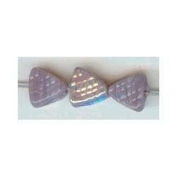 Glaskraal driehoek bewerkt 6mm lila ca. 100 st