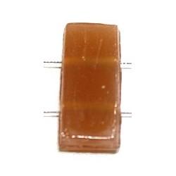 Glaskraal 11x24mm 2 gaats tr. zalmkl 5st.