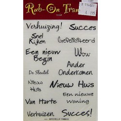 Rub On Transfers felicitatie per vel