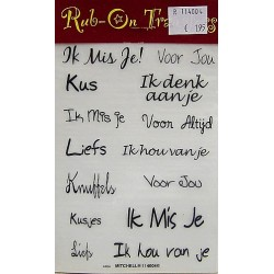 Rub On Transfers liefs 2 per vel
