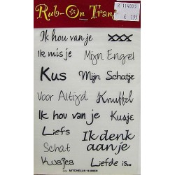 Rub On Transfers liefs 3 per vel