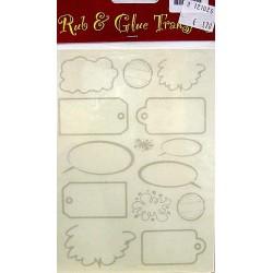Rub & Glue transfer labels per vel