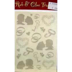 Rub & Glue transfer huwelijk per vel