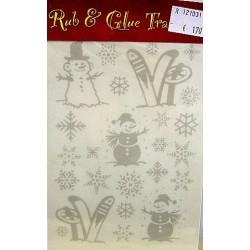 Rub & Glue transfer winter per vel