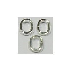 Ringetjes 7x9.5x2mm ovaal zilverkleurig 10stuks