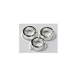 Ringetjes 7.6x2mm zilverkleurig 10stuks