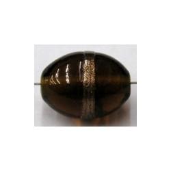 glaskraal ovaal 18x14mm topaas/goudband p.st