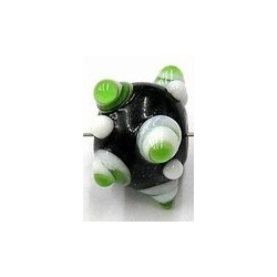 glaskraal pukkels 11mm zwart gr/witte ogen 5st