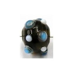 glaskraal pukkels 11mm bruin bl/witte ogen 5st