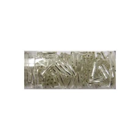 Gutermann staafjes 10mm gedraaid zilverkl. 22g