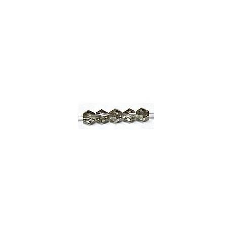 Facetkraal 4mm konisch transp.black diamond 50st.