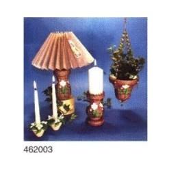 Boekje lampvoet,kaarsenstandaard,plantenhanger met
