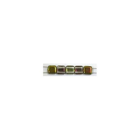 TILA kralen 6x6mm crystal green vitex 25st.