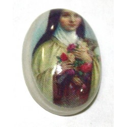 plaksteen madonna met crusifix 14x10mm p.stuk
