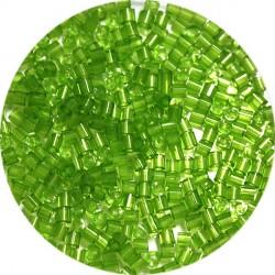 Staafles 2mm transp. groen 25gram