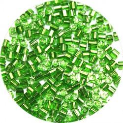 Staafjes 2mm groen zilverkern 25gram