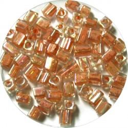 Glaskr. hex cut ca 3,5mm transp. oudrose 25gram