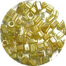 Glaskr. hex cut ca 3,5mm transp. lichtgeel 25gram