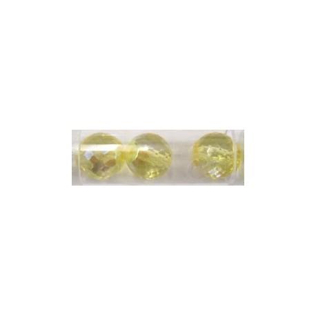 Gutermann facetkogel 14mm licht geel AB 3st