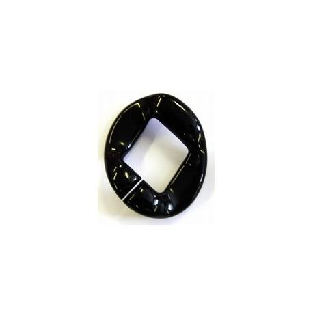 kunststof ring 40mm zwart per stuk