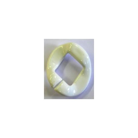 kunststof ring 40mm wit per stuk