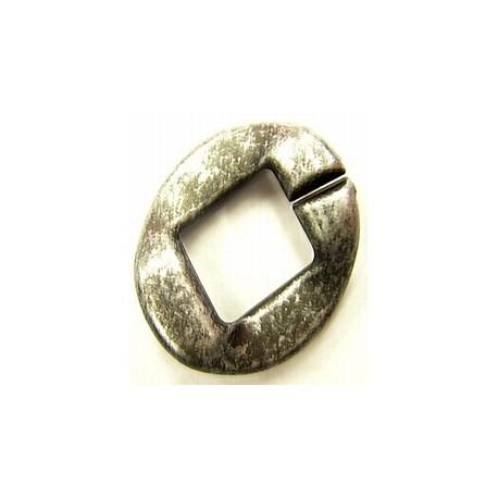 kunststof ring 40mm oudzilverkl. per stuk